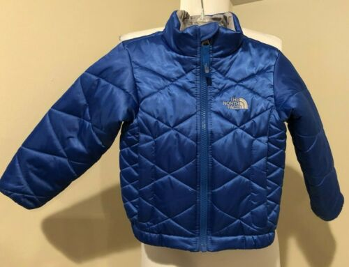 THE NORTH FACE Boys Kids Blue Puffer Jacket Coat - Sz 2T 2 Toddler