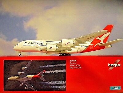Neu Herpa 531795-1//500 Qantas Airbus A380 new colors