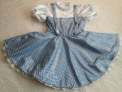 The Wizard Of Oz Dorothy Halloween Costume (Dorothy Wizard of Oz Wms Large Sparkle Blue Gingham Rubies Halloween Costume)