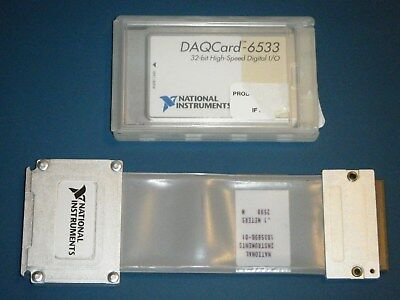 Ni Daqcard-6533 Pcmcia 32-bit Digitalpattern Io National Instruments Tested