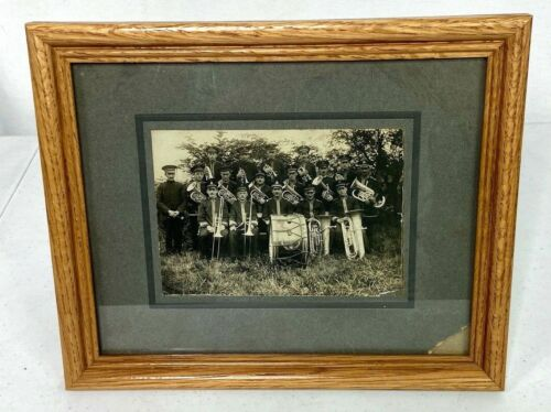 Vintage Salvation Army Band Framed Photo
