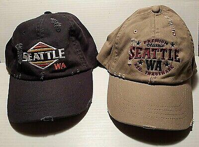 Souvenir Seattle Washington Retro Ball Cap Embroidered Adjustable Adult Hat