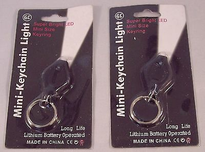 LED Key Chain Micro Light Super Bright Pocket Flashlight Lot Of 2