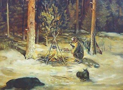 """Sygmunt Rafal STRENT, (*1943) SIFI - Ölgemälde 1985. """" ENEMY MINE """" - Szenenbild"""