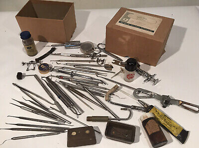 Large Lot 45 Of Dental Dentist Tools Instruments Vintage Estate Find