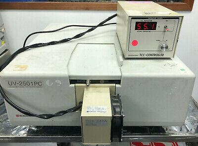 Shimadzu Uv-2501pc Uv-vis Recording Spectrophotometer With Tcc-240a Controller
