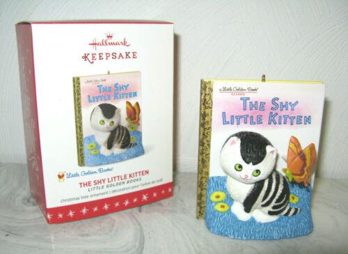 2016 Hallmark Little Golden Books The Shy Little Kitten Cat Christmas Ornament
