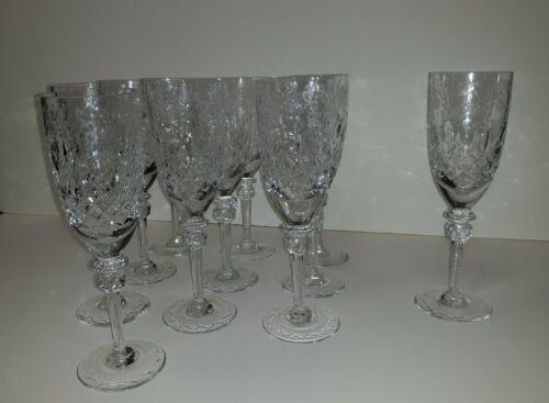 Set Old or Antique Crystal Champagne Flutes Wine Glasses  11 pcs