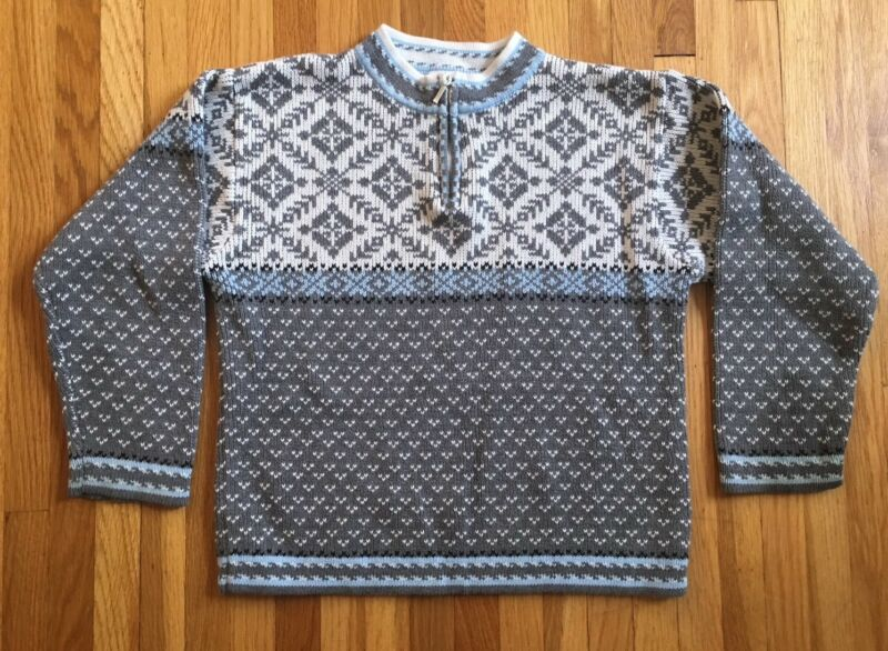 Hanna Andersson Nordic Sweater 1/4 Zip Size 130 (size 8)Cotton Holiday Christmas