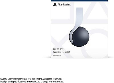 Sony Pulse 3D Wireless Gaming Headset for PlayStation 5 - White (3005689)