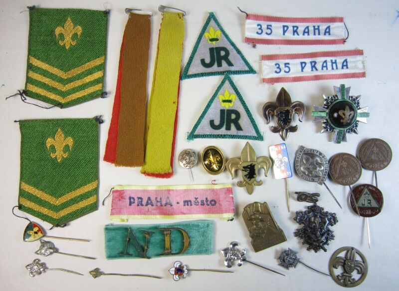 Lot Boys Scouts Pins Badges Stickpins Prague (Praha) Czech Republic