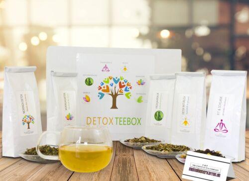 9,16 EUR /100g DetoxTeebox 5 Sorten Detox-Tee zum Entschlacken Abnehmen 250 g