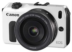 Canon EOS M w/ 22mm Lens + More