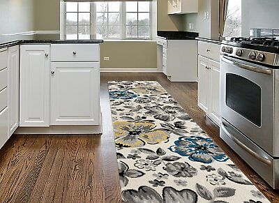 Throw Rug Long Runner Floral Living Room Kitchen Hall Area Floor Mat Scatter](Long Carpet)