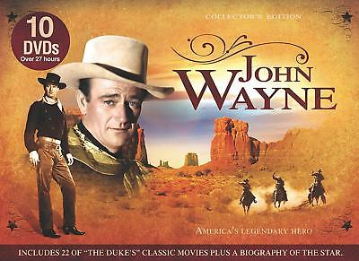 John Wayne Americas Legendary 10 DVDs Collection Complete - FREE SHIPPING