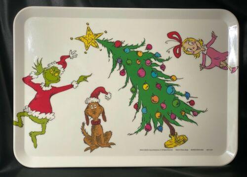 Dr Seuss Grinch Melamine Tray Platter 9.5 x 13 Max & Cindy Lou NEW