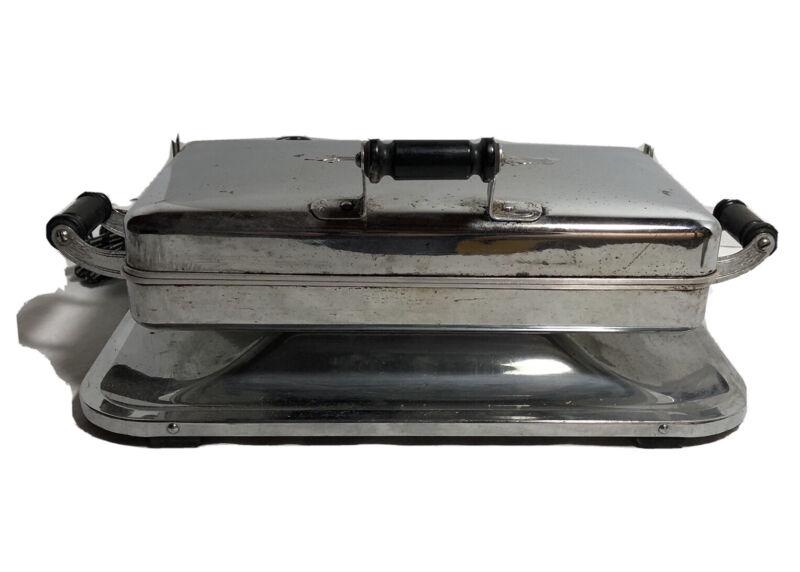 Vtg Chrome Universal Buffet Hot Plate Pat.Date 1914 Landers,Frary Clark Heats Up