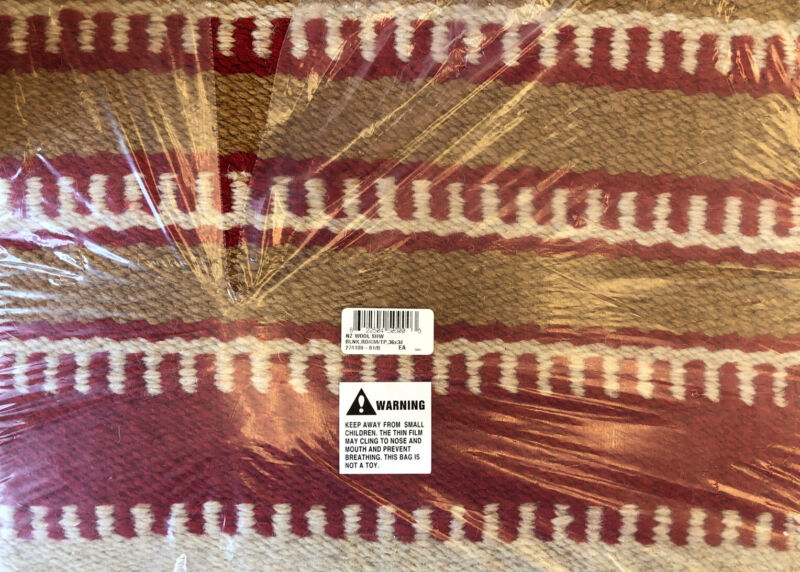 Mustang NZ Wool Show Saddle Blanket Red / Cream