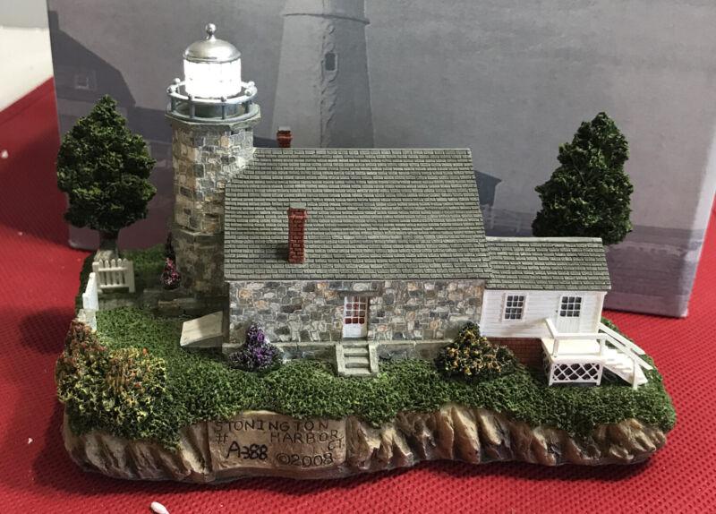 Harbour Lights #481 ~ STONINGTON HARBOR Connecticut Lighthouse - 2008 - IN BOX