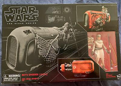 New Star Wars The Black Series Rey's Speeder (Jakku) and Figure MINT Sealed