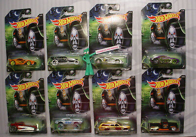 🎃2017 HAPPY HALLOWEEN☠Hot Wheels☠OLDS/SATELLITE/FORD F1/ZOTIC/☠SKULL☠8 CAR SET - Big Lots Halloween 2017
