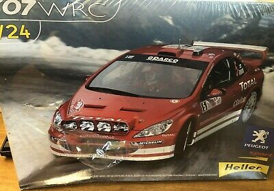 1/24 HELLER Peugeot 307 WRC 2004 Rally Car NEW SEALED LIGHT SHELF WEAR