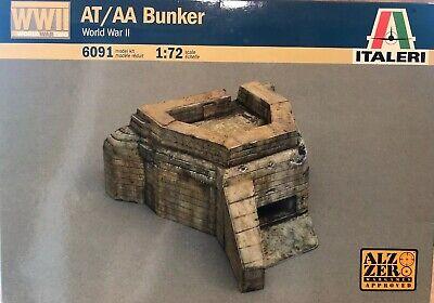 WWII AT/AA BUNKER WORLD WAR II ITALERI 6091 NO BOX READ DESCRIPTION