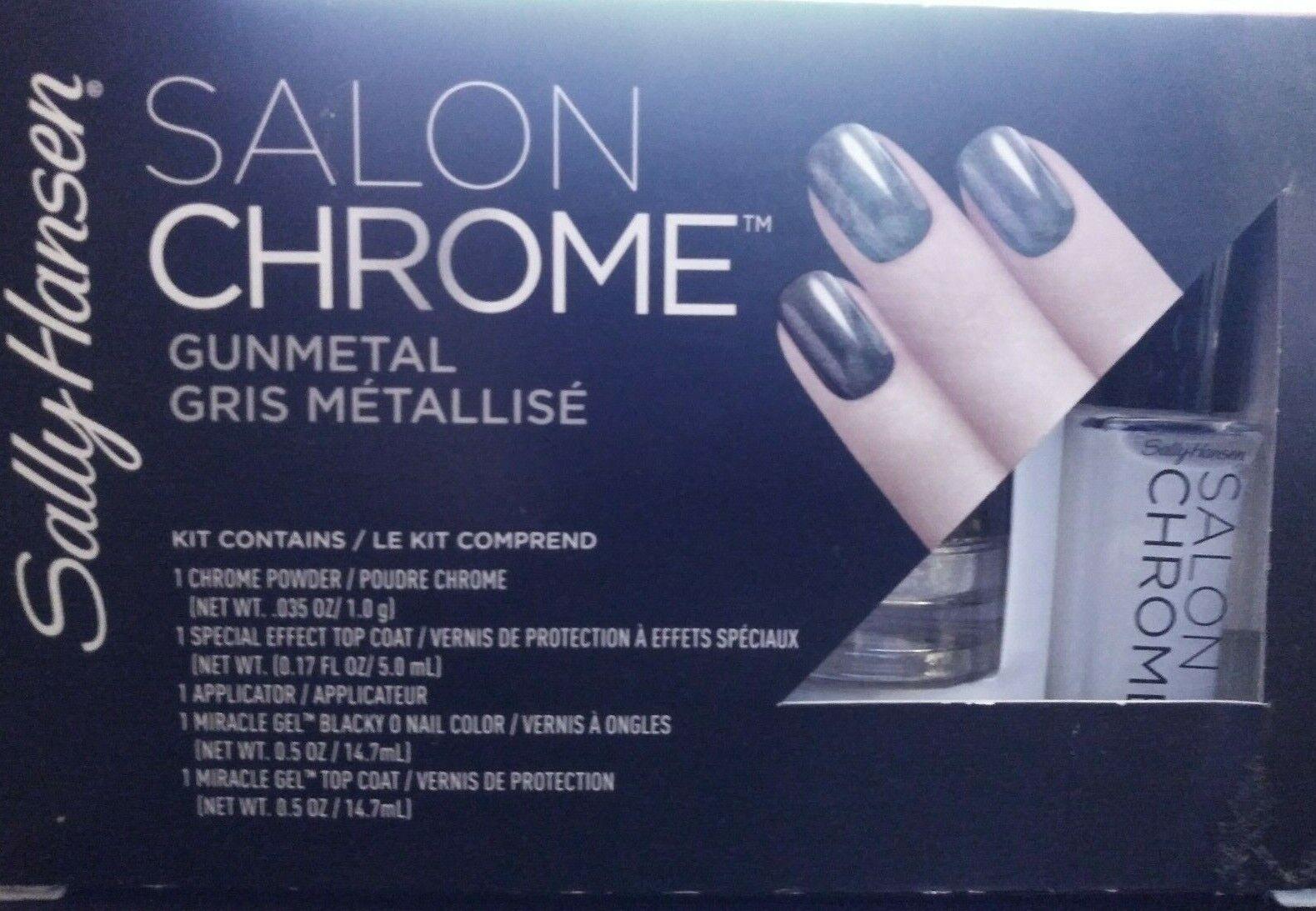 Sally Hansen Salon Chrome 3PC Kit Miracle Gel Polish #210 Gu