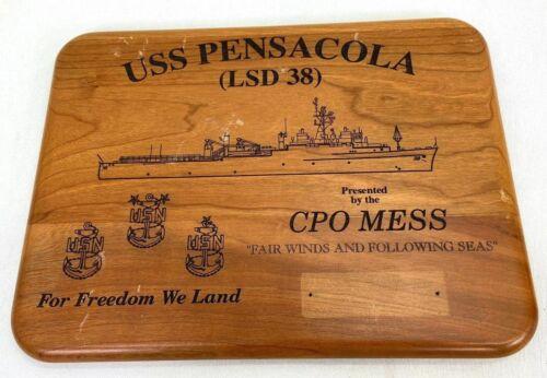 Vintage USS Pensacola LSD-38 Chiefs Mess Plaque
