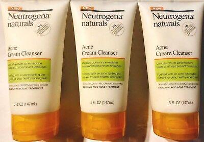 Neutrogena Naturals Acne Cream Cleanser 5 oz. (3 (Natural Acne Cream)