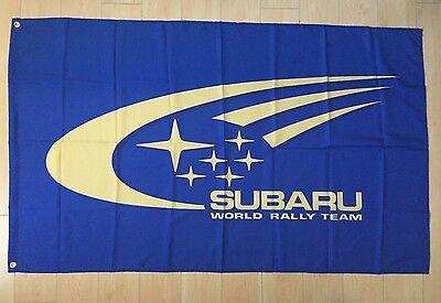 STI Flag Banner SUBARU WRX WRT Impreza Rally Car Shop Garage 18x58 in