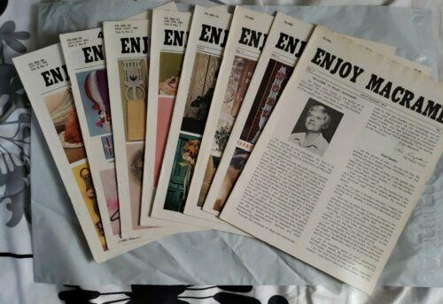Lot 8 Enjoy Macrame Instruction Pattern Magazines 1977-82