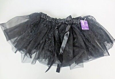 Kids Girls Halloween Black Tutu One Size Fits All New - All Black Halloween Costumes For Girls