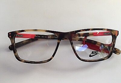NIKE 7236 218 140 HAVANA EYEGLASSES AUTHENTIC RX- Free Lense Cleaning Kit