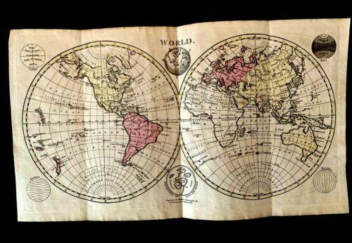 1700s MAPPA MUNDI  - The Map of the World