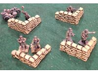 B.P.Cast Pro-Painted Flocked,/& Sealed Artillery Position Ready To Go! BA-115