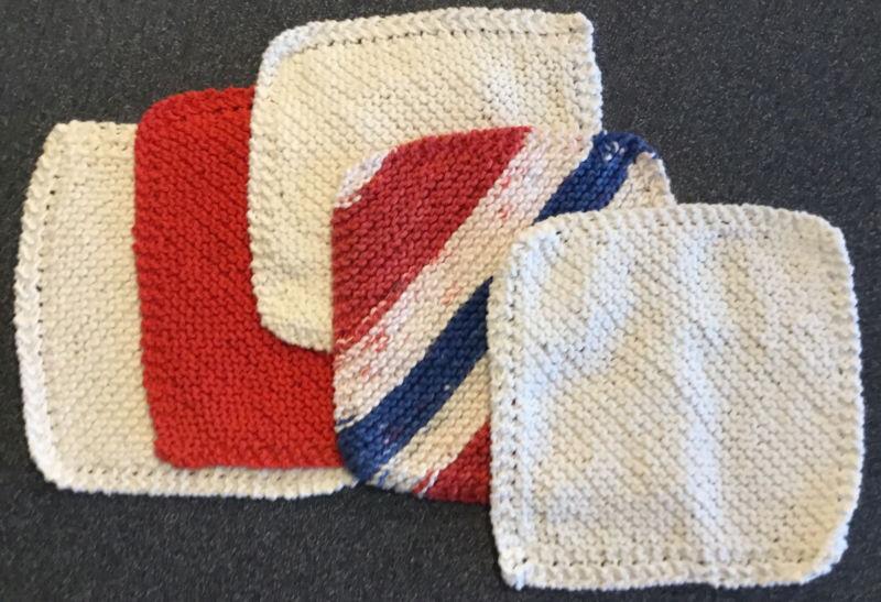 5 Homemade Handmade Crocheted Dish Cloths/Wash Cloths, Doilies, Hot Pads