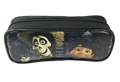 Disney Coco Movie Miguel &Hector Day of the Dead Black Pencil Case Pencil Pouch  ()