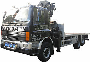 HIAB LORRY CRANE HIRE MACHINE MOVERS FACTORY REMOVALS PLANT WEST MIDLANDS