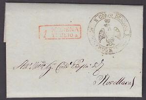 Italy-1845-Military-Stampless-SFL-Modena-to-Novellara