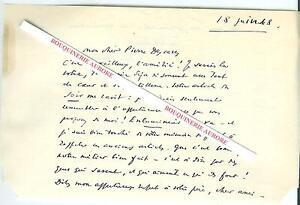 Lettre-autographe-signee-d-039-Emile-HENRIOT-Poete-romancier-essayiste-critique-Litt