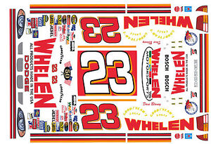 23-Dave-Blaney-Dodge-Whelen-Motorsports-1-64th-HO-Scale-Waterslide-Decals