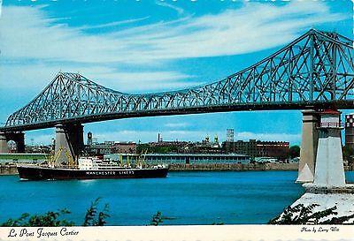 Jacques Cartier Bridge Montreal Quebec Canada 1969 Postcard