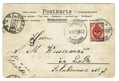 Finland SC# 48, Used, on 1902 on Postcard - Lot 101017