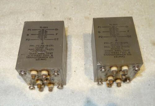 Mid-West Interstage transformers 30K to 80K Used PAIR