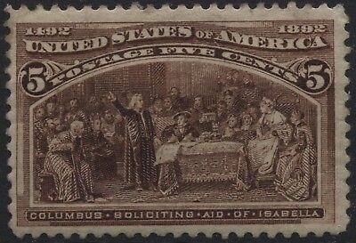 USA 1893 Sc#234 5c Columbian Exhibition - summoning aid of Isabella