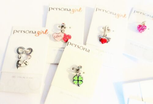 Persona Girl Assorted Set Lot Of 5 Sterling Silver New With Tags Charm Beads