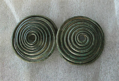 Bronze Age Spectacle Spiral Bronze Brooch 9th-6th Century BC Celtic Large Intact