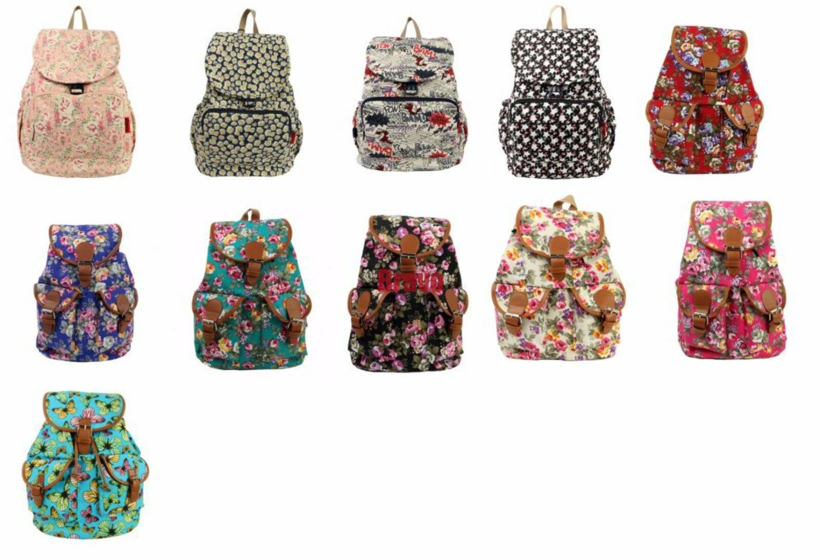 Women's Canvas Satchel Without beating about the bush Backpack School Rucksack Bags Travel Fashion NEW