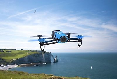 Reiterate Bebop Quadcopter Drone - Blue World Megapixel Hd 1080p Vista Field View
